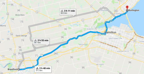 Brantford to Burlington