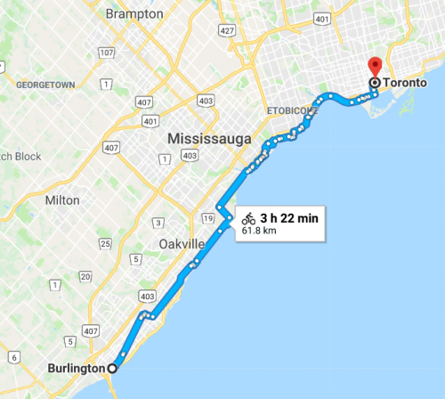 Burlington to Toronto