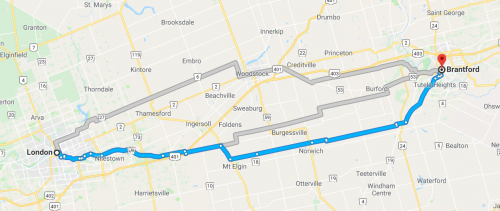 London to Brantford